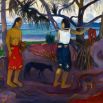 Paul Gauguin. I Raro Te Oviri (Under the Pandanus), 1891. Oil on canvas, cm. 73.7 × 91.4. © The Minneapolis Institute of Art. The William Hood Dunwoody Fund