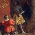 Richard Parkes Bonington. A Knight and Page, 1826 ca. Oil on canvas, cm. 46,4 X 38,1. Yale Center for British Art, New Haven, Connecticut. Eugène Delacroix