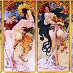 Alfons Mucha - Four seasons