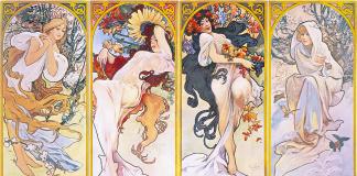 Alfons Mucha - Four seasons - 1895