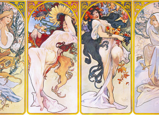 Alfons Mucha - Four seasons - 1895