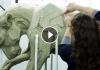 Beth Cavener - Working on her sculptures