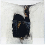 Alberto Burri. White B, B White, 1965. Plastic, Acrylic, PVA glue, burning of cellotex, cm 151.1 x 151.1. Solomon R. Guggenheim Foundation, Legacy Collection Hannelore B. Schulhof, 2012