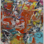 Willem de Kooning. Composition, 1955. Oil, enamel and charcoal on canvas, 201 x 175.6 cm. New York, or the Solomon R. Guggenheim Museum. Legacy Hannelore B. Schulhof, 2012