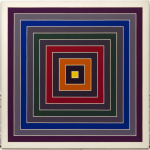 Frank Stella. Mixture of gray, 1968 - 1969. Oil painting on canvas. Venice, Solomon R. Guggenheim Foundation. Legacy Hannelore B. Schulhof, 2012. Ph. David Heald © Frank Stella, by SIAE 2016