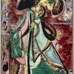 Jackson Pollock. The Moon Woman, 1942. Oil on canvas, cm 175.2 x 109.3. The Solomon R. Guggenheim Foundation. Peggy Guggenheim Collection, Venice