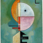 Vasily Kandinsky. Upward, 1929. Oil on cardboard, cm 70 x 49. Peggy Guggenheim Collection, Venice. David Heald Photo
