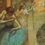 Edgar Degas. Dancer adjusting the shoulder strap of her bodice, c. 1885-1905. Oil on canvas, cm 78.7 x 50.8. The Art Institute of Chicago