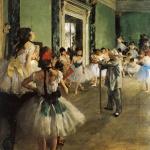 Edgar Degas. The Dance Class, 1873–1876. Oil on canvas. Orsay Museum, Paris