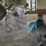 Edgar Degas. Ballet staged rehearsal, 1874. Oil on canvas 65x81 cm. Orsay Museum, Paris