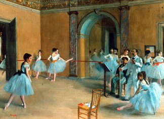 Edgar Degas. The dance foyer at the Opera, 1872. Orsay Museum, Paris